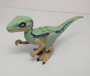 Genuine Lego Raptor Velociraptor Dinosaur Figure Blue Jurassic World 75928 75930