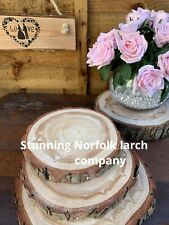 LOWEST PRICE CRAFT Larch Pine Wood Slice Blanks Small Slices 17-20cm Timber Log