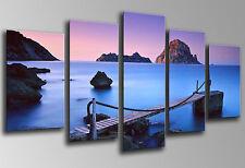 Cuadro fotografico Paisaje Mar Puente Madera, Base Madera 145x62 cm, ref.26036