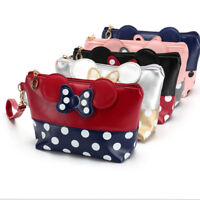 MINNIE MICKEY MOUSE Polka Dot Cosmetic Bag Case Pouch Clutch Toiletry Makeup Bag