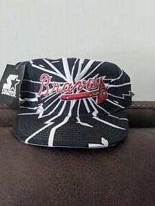 Vintage NWT Starter Atlanta Braves Collision Earthquake Shatter snapback hat cap