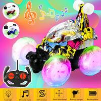 Remote Control Car 360° Rotation Flip Drift Stunt Car Music Light Dance RC