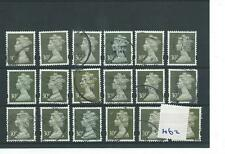 GB - WHOLESALE - MACHIN DEFINITIVES - MA62- 30p x 18 - OLIVE GREY - USED
