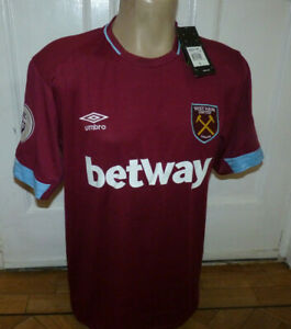 WEST HAM UNITED FOOTBALL JERSEY SHIRT SIZE LARGE 42-44 INCH CHEST