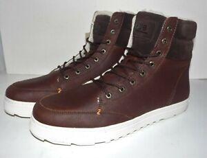 HUB Footwear Dublin L30 Merlins Schuhe Gr. 44 Dark Brown LEDER Sneaker high