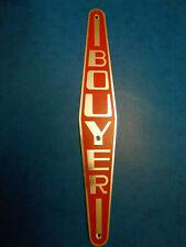 plaque / emblème / monogramme / logo capot motoculteur BOUYER