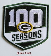 Green Bay Packers 100 seasons NFL Sport Logo  Patch Iron and sewing on Clothes.