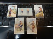 More details for gallaher cigarette card - boy scout series -  lot of  5 cards