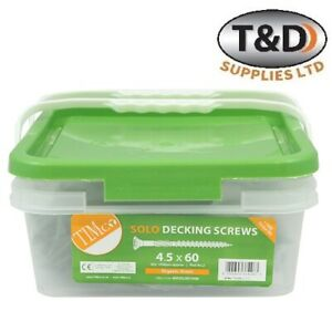 DECKING SOLO SCREWS GREEN COATED LANDSCAPE SCREW FENCING SCREW WOODCREW TUB 1000