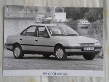 Peugeot 405 GLi press photo brochure 1990's