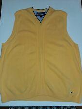 b6d7797386f Tommy Hilfiger Para Hombre Suéter Chaleco Amarillo Algodón Pima en una talla  L