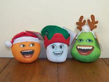 Annoying Orange Marshmallow & Pear Talking Christmas Holiday Stuffed Plush *NEW*