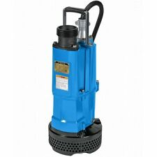 Tsurumi Submersible Water Pump 3-inch Discharge 110 GPM Runs on 110 or 220 Volt