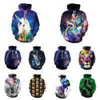 Men Women Pullover Top Hoodie Jacket Sweater Sweatshirt 3D Graphic Print