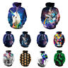 3D Graphic Print Men Women Pullover Top Hoodie Jacket Sweater Sweatshirt