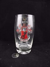 VINTAGE BECK'S BEER  CRESTED  GLASS