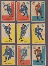 1959-60 Parkhurst Original Hockey Cards Lot of 12