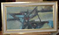 """Tableau, Huile sur toile """"Composition""""signé SAYER ( Derrick 1917-1992)"""