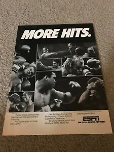 Vintage ESPN BOXING Poster Print Ad MUHAMMAD ALI JOE FRAZIER ROBERTO DURAN