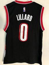 ef22e918527f adidas NBA Jersey Portland Trailblazers Damian Lillard Black Sz L