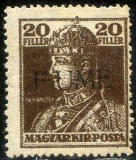 "Fiume 1918 Carlo e Zita n. 25d * varietà ""F UME"" (m094)"