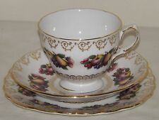 COLCLOUGH, RIDGWAY BONE CHINA, Patt 8248 TEA TRIO - TEA CUP, SAUCER & CAKE PLATE