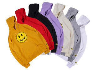 Hailey Baldwin Drew House Happy Face Justin Bieber Mens Hoodie Sweatshirt Unisex