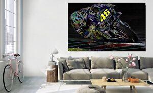 Canvas Wall Art - Valentino Rossi MP Print