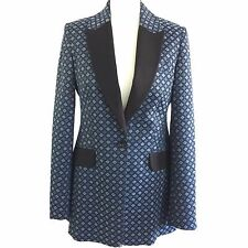 Gorgeous Karen Millen Patterned Casual Tuxedo Jacket Blazer, Size UK 12