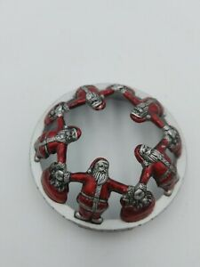 yankee candle pewter candle top Santa Christmas