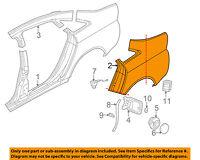 AUDI OEM 98-04 A6 Quattro-Quarter Panel-Rear Section Left 4B5809843