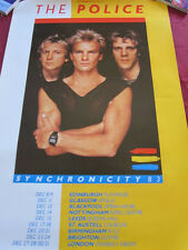 Police Syncronicity Uk tour poster 20x30