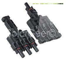 MC4 Verzweigungsstecker Paar / T-Stecker / Solar Connector /Photovoltaik/3 zu 1