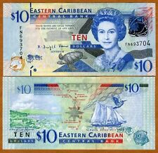 Eastern East Caribbean, $10, ND (2012) , P-52, UNC, Upgraded