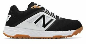 New Balance Low-Cut 3000v4 Turf Baseball Mens Shoes Black with White