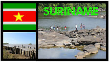 SURINAME, SOUTH AMERICA - SOUVENIR NOVELTY FRIDGE MAGNET - BRAND NEW - GIFT