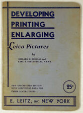 Leitz Booklet - Developing Printing Enlarging Leica Pictures - 1933