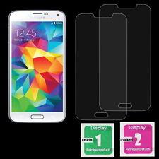 2x Samsung Galaxy S5 Display Schutzglas Hartglas 9H Echt Glas Panzer Glasfolie