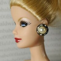 JEWELRY ~ BARBIE DOLL MARILYN MONROE SEVEN YEAR ITCH FAUX DIAMOND PEARL EARRINGS