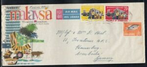 SINGAPORE Commercial Cover Singapore to Wiesbaden 10-8-1966 Cancel