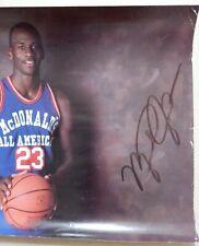 1987 McDonald's Michael Jordan signed Poster autograph