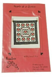 """Quilt Pattern: """"Hearts at a Glance"""" 60 x 60""""  Priceless Pieces- 1990 Leona Price"""