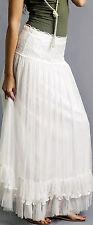 Sacred Threads 100 % Rayon  Long Skirt  Sheer White  NWT 216304
