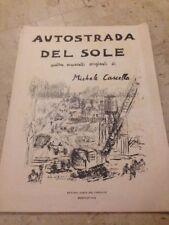 AUTOSTRADA DEL SOLE quattro acquarelli originali di MICHELE CASCELLA 1959