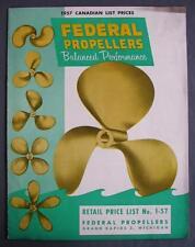 Original 1957 Federal Propellers Retail Canadian Price List No 1-57 Grand Rapids