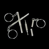 5X 3in1 Mini Screwdriver Tool Repair set keyring for Watch,Glasses,CellPhone fu