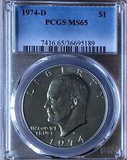 1974-D MS65 Eisenhower Ike Dollar PCGS Gem