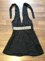 ✨Trägertop, Top, Shirt in schwarz mit Steinen, XS / 34 von Amisu, Neckholder✨