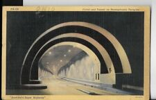 portal and tunnel on pennsylvania turnpike postcard dated 1941