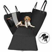 Dog Car Seat Cover with Mesh Viewing Window, Non-Scratch Waterproof Large B Q6P5